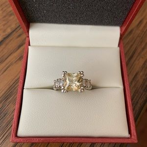 Canary Yellow Cubic Zirconia Ring